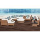 East Village 12 Piece Rattan Sectional Set with Cushions Color: White