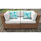 East Village Loveseat with Cushion Color: White
