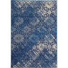 Bonner Blue/Cream Area Rug Rug Size: Rectangle 5' x 8'