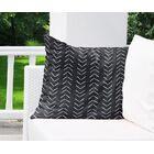 Mudcloth Big Arrows Indoor/Outdoor Euro Pillow Color: Navy