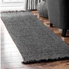 Bedard Charcoal Indoor/Outdoor Use Area Rug Rug Size: Runner 2' 6