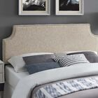 Cothran Fabric Upholstered Panel Headboard Size: Queen
