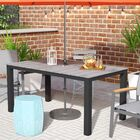 Ellport Plastic Patio Dining Table Base Finish: Brown/Gray
