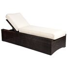 All-Weather Serene Reclining Chaise Lounge with Cushion Color: Summit Peony