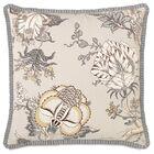 Edith Pleated Ribbon Throw Pillow