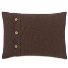 Chalet Bozeman with Buttons Lumbar Pillow Color: Brown