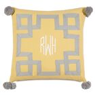 Epic Sunshine Embroidered 3-Letter Monogram Throw Pillow