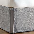 Sandrine Matelasse Cotton Bed Skirt Color: Dove, Size: California King