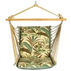 Soft Comfort Cushion Polyester Chair Hammock Color: Matisse Fern / Blue Solid
