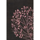Brown/Pink Area Rug Rug Size: Rectangle 7'9