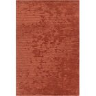 Nathen Textured Orange Area Rug Rug Size: 3'6