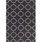 Electra Patterned Contemporary Wool Charcoal Area Rug Rug Size: 5' x 7'