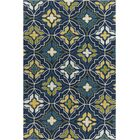Adonay Patterned Wool Blue Area Rug Rug Size: 5' x 7'6