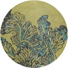 Steib Wool Green Area Rug Rug Size: Round 7'9