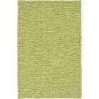 Elbeni Hand Woven Cotton Green Area Rug Rug Size: 5' x 7'6