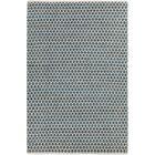 Brassard Hand-Woven Blue/White Area Rug Rug Size: 5' x 7'6