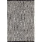 Salley Hand-Woven Gray/Black Area Rug Rug Size: 7'9