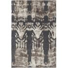 Colombes Hand-Woven Charcoal/Beige Area Rug Rug Size: 5' x 7'6