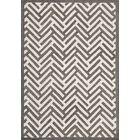 Tracks Grey & Ivory Area Rug Rug Size: 5'6