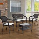 Edwin 4 Piece Deep Seating Group with Cushions