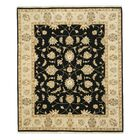 Hand-Knotted Black Area Rug