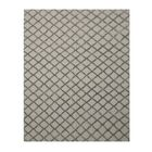 Marakesh Hand-Woven Silver/Charcoal Area Rug Rug Size: 6' x 9'
