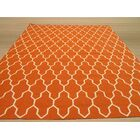 Hand-Woven Orange/Ivory Wool Area Rug Rug Size: Rectangle 12' x 15'