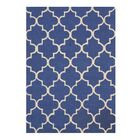 Durrant Wool Traditional Trellis Hand-Tufted Blue Area Rug Rug Size: 5' x 7'