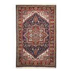 Aren Hand-Knotted Wool Blue/Red Area Rug Rug Size: Rectangle 10' x 14'