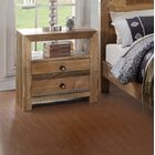 Abbey 2 Drawer Nightstand Color: Natural