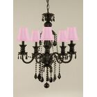 Keesee 5-Light Shaded Chandelier Shade Color: Pink
