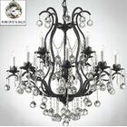 Alvan 15-Light Black/White Candle Style Chandelier