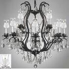 Alvan 12-Light Black Candle Style Chandelier