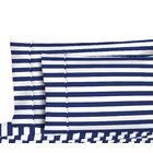 400 Thread Count 4 Piece Bold Stripe Sheet Set Size: King, Color: Navy
