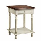 Emeric 1 Drawer End Table Color: White Truffle