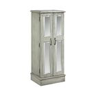 Backsten Jewelry Armoire with Mirror Color: Slate Gray