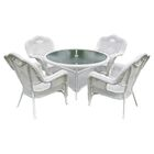 Dominic 5 Piece Patio Dining Set Finish: White