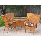 Indoor/Outdoor Wicker Patio Premium U-shape Cushion Color: Montfleuri Sangria