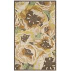 Hand-Tufted Gold Area Rug Rug Size: Rectangle 4' x 6'