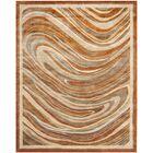 Martha Stewart Marble Swirl Oct Leaf Red Geometric Area Rug Rug Size: Rectangle 7'9