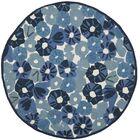 Martha Stewart Azurite Blue Area Rug Rug Size: Round 6'