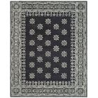 Martha Stewart Gracious Garden Hand Loomed Black and Ivory Area Rug Rug Size: Rectangle 9' x 12'