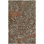 Martha Stewart Chrysanthemum Tufted / Hand Loomed Brown/Ivory Area Rug Rug Size: Round 4'