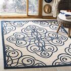 Martha Stewart Rosamond Navy/Beige Area Rug Rug Size: Rectangle 5'3