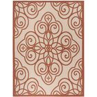 Martha Stewart Rosamond Red/Ivory Area Rug Rug Size: Rectangle 8' x 11'2
