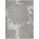 Chrysanthemum Gray Area Rug Rug Size: Rectangle 8' x 11'2