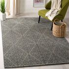 Strolling Garden Rock Garden/Grey Rug Rug Size: Rectangle 5'6