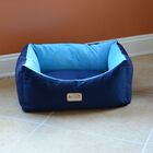 Cat Bed in Navy Blue and Sky Blue