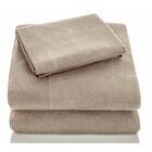 Flannel Sheet Set Size: Split King, Color: Oatmeal