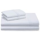 Cateline 600 Thread Count Premium Cotton Fitted Sheets Set Color: White, Size: King